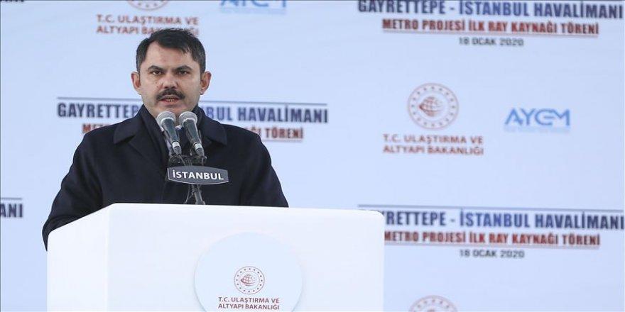 Çevre ve Şehircilik Bakanı Kurum: Projelerimizi aynı azimle ve aynı kararlılıkla yapmaya devam edeceğiz