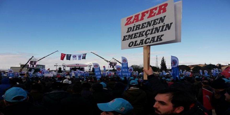 Metal işçileri MESS dayatmalarına karşı mitingde