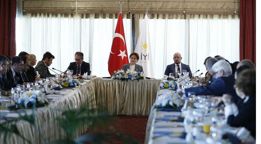 Meral Akşener, basın kuruluşlarının Ankara temsilcileriyle bir araya geldi