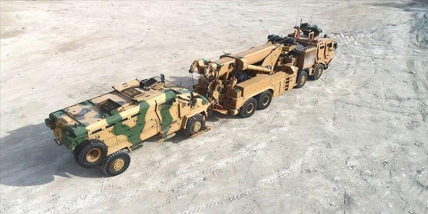 Askeri araçların 46 tonluk kurtarıcısı M4K zorlu testleri başarıyla geçti