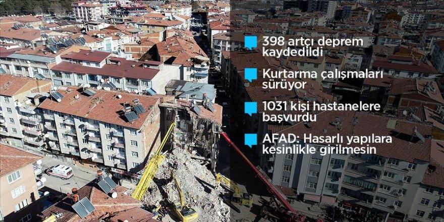Elazığ'daki depremde 22 kişi hayatını kaybetti, 1031 kişi yaralandı