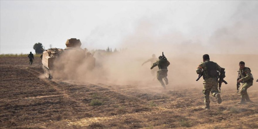 Terör örgütü YPG/PKK Barış Pınarı Harekatı bölgesine saldırdı