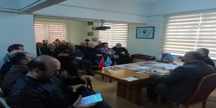 Türk Ocaklarında Corona Virüsü konulu konferans.