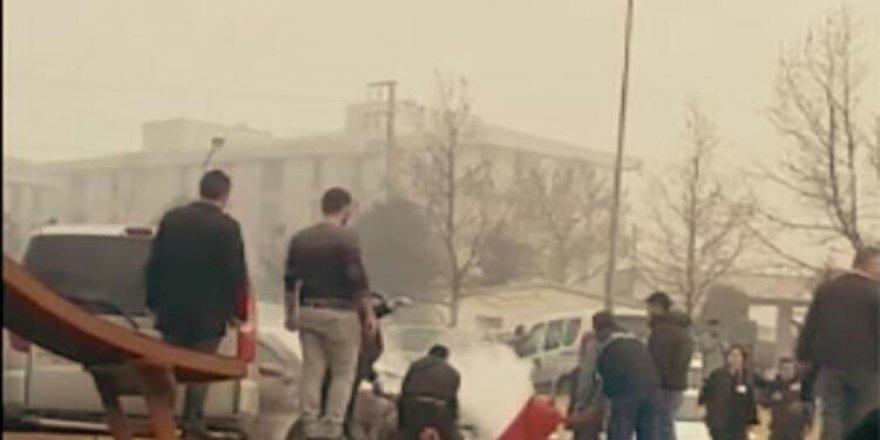 Darıca'da hastane otoparkında yangın