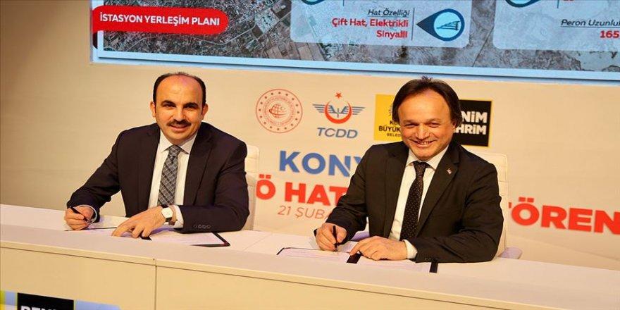 Konyaray Banliyö Hattı'nın protokolü imzalandı