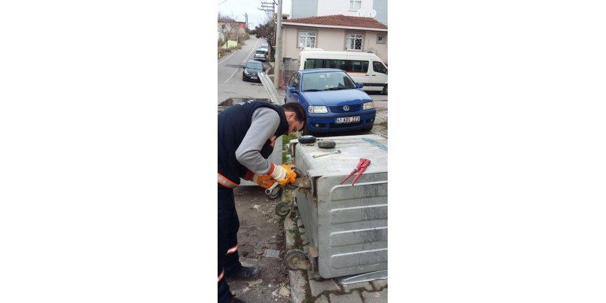 Gebze'de çöp konteynerleri yenilendi