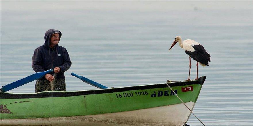 Eskikaraağaç'ın müdavimi leylek 'Yaren' göl manzaralı yuvasına yerleşti