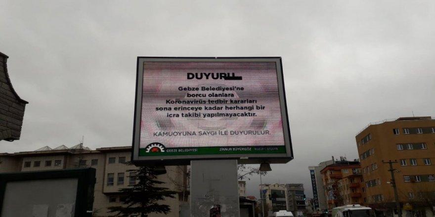 Gebze Belediyesi'ne borcu olanlar dikkat ! Vatandaşlara reklam panosunda duyuruldu