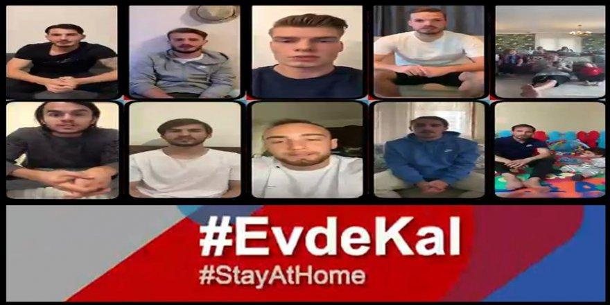 Trabzonsporlu futbolculardan 'Evde kal, güvende kal' çağrısı