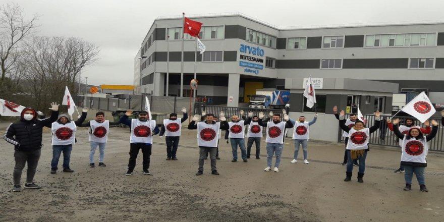 İşçi kıyımı:Lojistik'in Gebze'deki deposunda 30 depo işçisi eylem yaptı