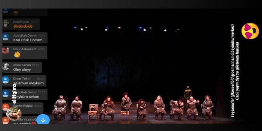Dünya Tiyatrolar Günü'nde 'Macbeth' evlere konuk oldu