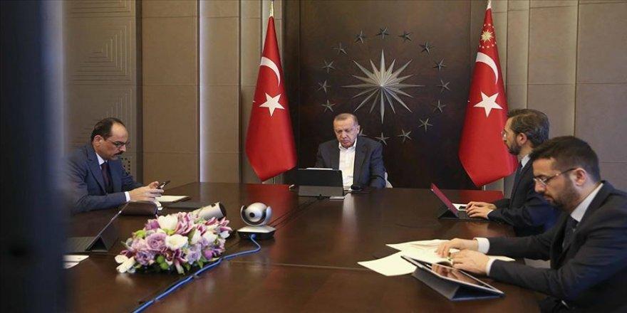 Cumhurbaşkanı Erdoğan, MİT Başkanı Fidan ile video konferansla görüştü