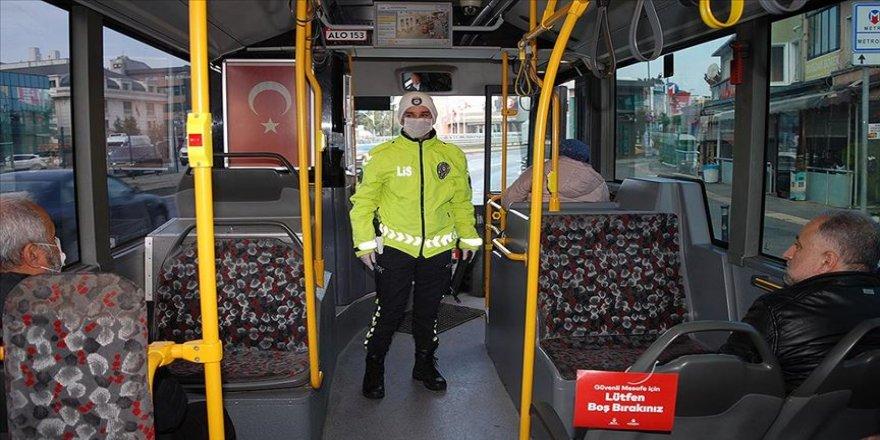 Toplu taşıma araçlarında koronavirüs denetimi yapıldı