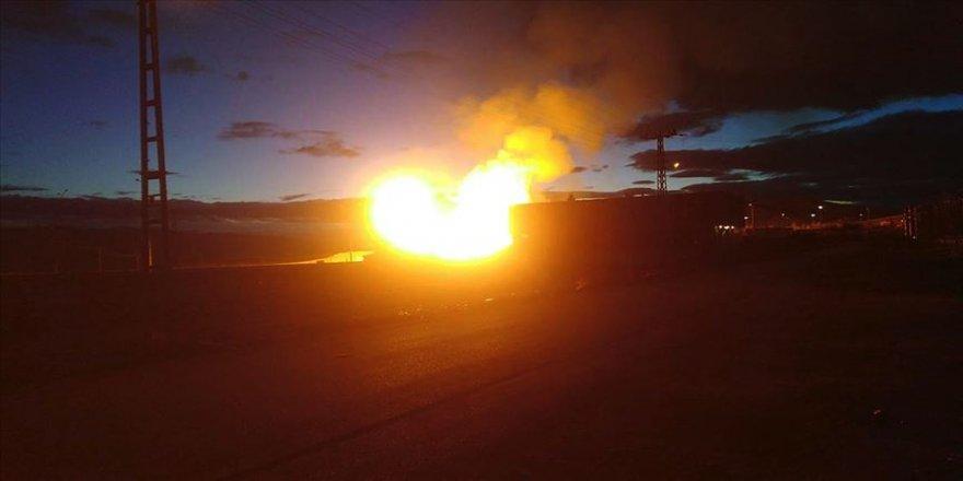 Ağrı'da Türkiye-İran doğal gaz boru hattında patlama