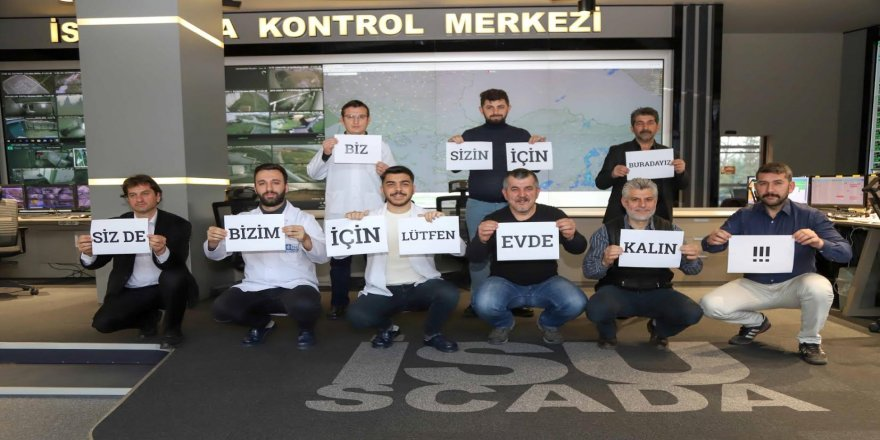 İSU ekipleri Covid-19'a rağmen 7 gün 24 saat sahada