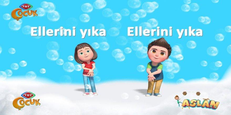 TRT Çocuk el yıkamayı sevilen kahramanlarıyla öğretiyor