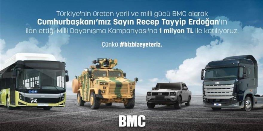 BMC Otomotiv'den 'Milli Dayanışma Kampanyası'na 1 milyon liralık destek