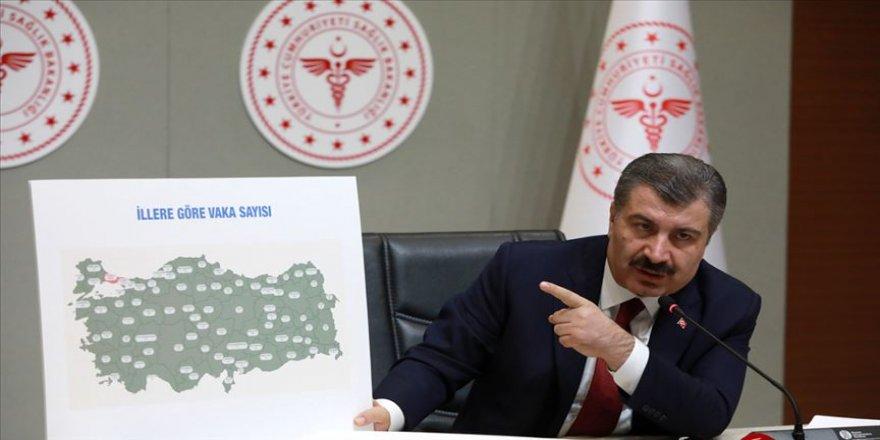 Türkiye'nin il il Kovid-19 vaka haritası