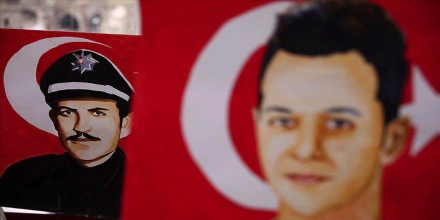 Ressam polis şehit meslektaşlarının portrelerini çiziyor