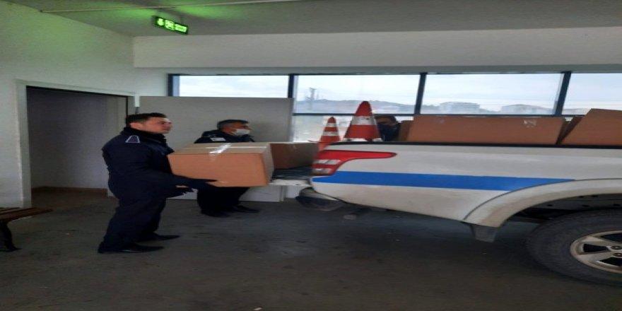 Gebze'de kaçak maske üretenlere baskın