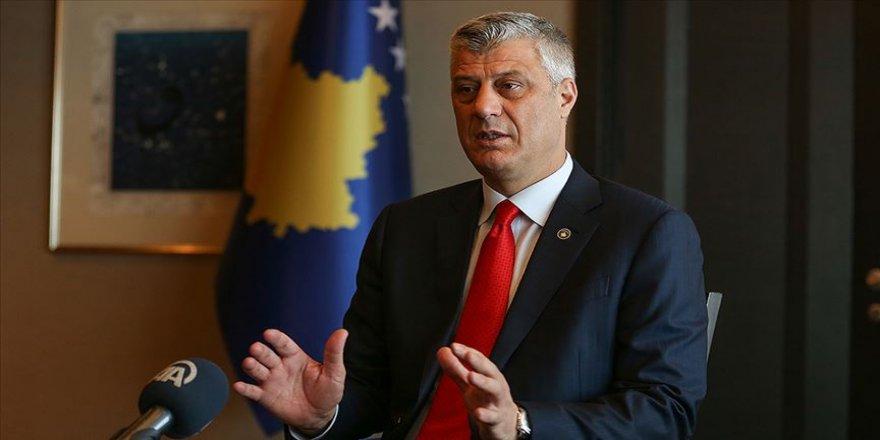 Kosova Cumhurbaşkanı Thaçi: Yardımlarından dolayı Türkiye ve Erdoğan'a minnettarız