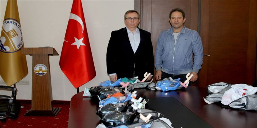 Trakya Üniversitesi'nde modifiye edilen 'su altı maskeleri' entübe hastalara nefes olacak