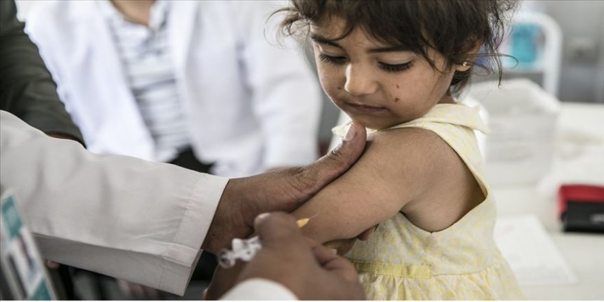 UNICEF: Kovid-19, 117 milyon çocuğun kızamık aşısını erteleyebilir