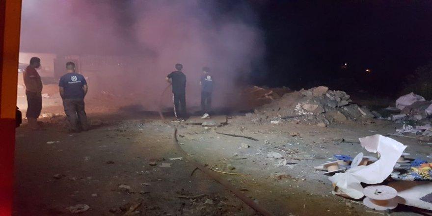 Gebze'de iş yeri yangını !