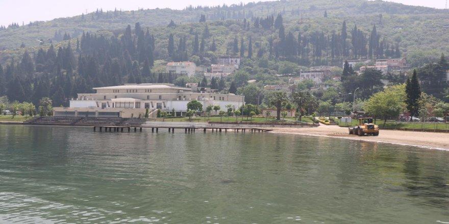 Kocaeli'de plajlara kum seriliyor