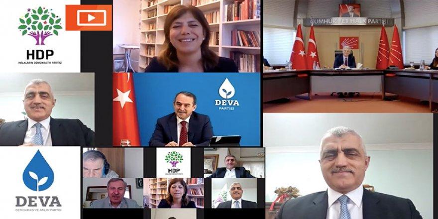 HDP,CHP, Deva Partisi, Gelecek Partisi ve Saadet Partisi online bayramlaşma gerçekleştirdi