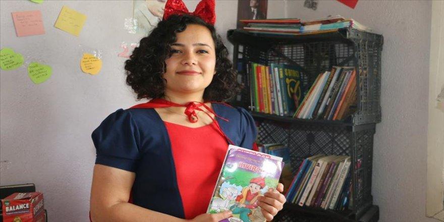 Kulalı 'Pamuk Prenses'ten çocuklara kitaplı ziyaret