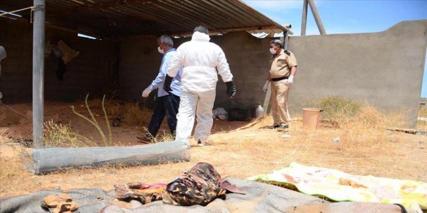 Hafter milislerinden kurtarılan Trablus'ta bir aileye ait toplu mezar bulundu