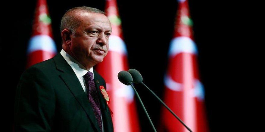 Cumhurbaşkanı Erdoğan'dan şehitler için başsağlığı mesajı