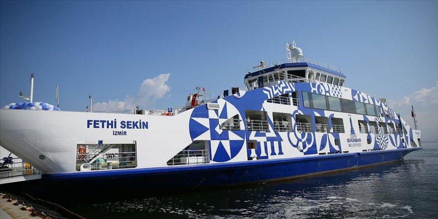 Şehit polis memuru Fethi Sekin'in isminin verildiği feribot denize indirildi