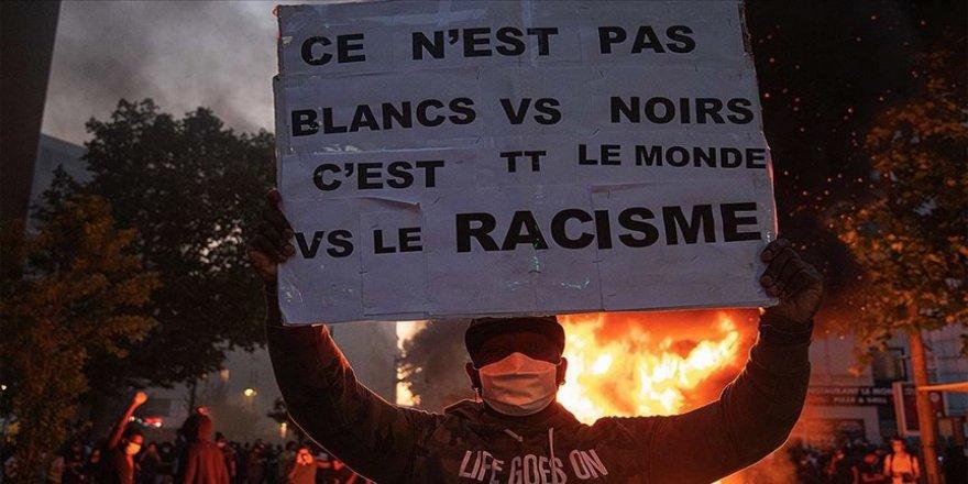 Fransa'da polis şiddetinin protesto edildiği gösteri olaylı sona erdi
