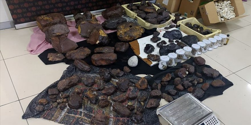 Mersin'de 145 kilogram akamber ele geçirildi