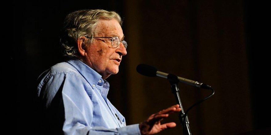 ABD'li düşünür Noam Chomsky'den 'ABD'nin İsrail'e desteği çok kırılgan' açıklaması
