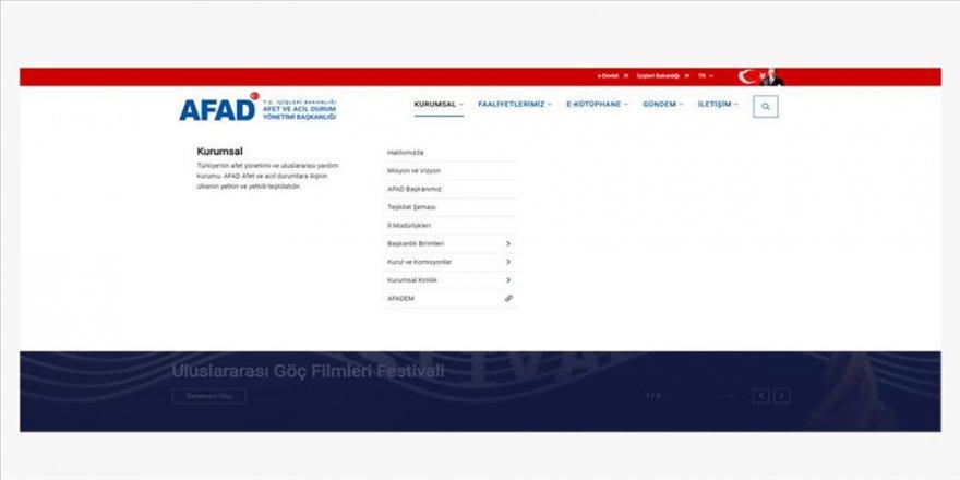 AFAD iki sistemin web sayfalarını kullanıma açtı