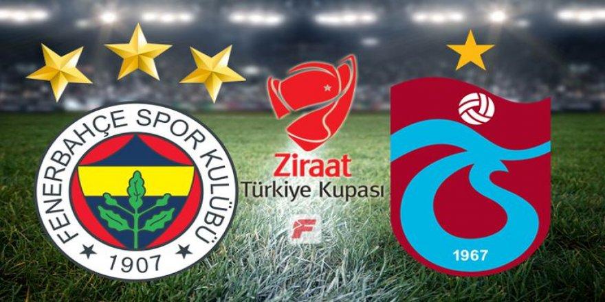 Fenerbahçe - Trabzonspor maçının 11'leri belli oldu