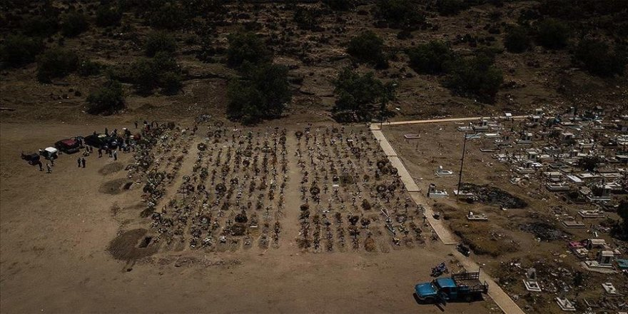Meksika'da Kovid-19 nedeniyle son 24 saatte 770 kişi öldü
