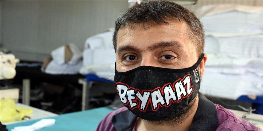 'Madenci kenti'nden özel tasarımlı maske ihracatı