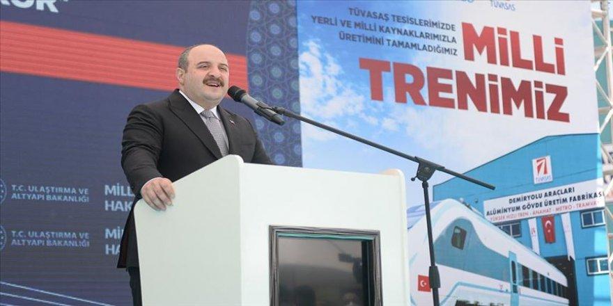 Sanayi ve Teknoloji Bakanı Varank: Raylı sistemler sektöründe küresel oyuncu olmayı hedefliyoruz