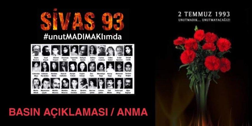 Gebze Emek ve Demokrasi Güçleri,Sivas Katliamı hakkında basın açıklaması yapacak
