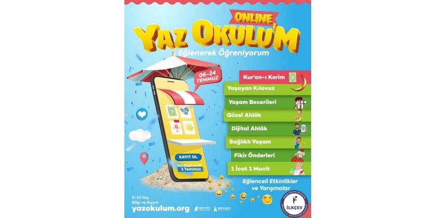 """İLKÇEV'den """"Online Yaz Okulu'm"""" Projesi"""