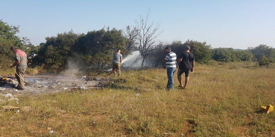 Gebze Pelitlide Ormanlık Alanda Yangın Çıktı