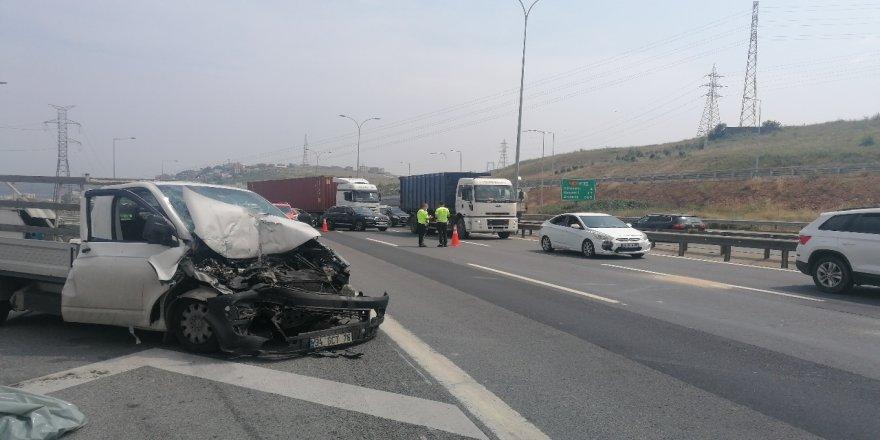 Dilovası rampası otoban Osmangazi köprüsü yol ayrımında kaza