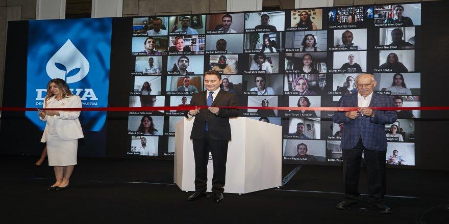 Deva Partisinin dijital açılış töreni YouTube kanalı üzerinden canlı olarak yayınlandı