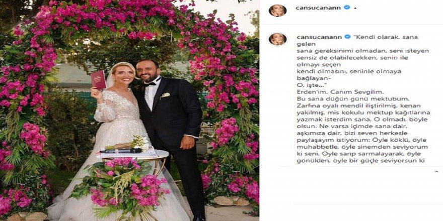 Cansu Canan Özgen Bodrum'da evlendi