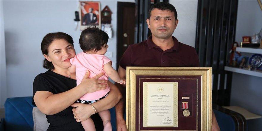 Gazi Mustafa'nın kalbi vatan ve Buğlem bebek için atıyor