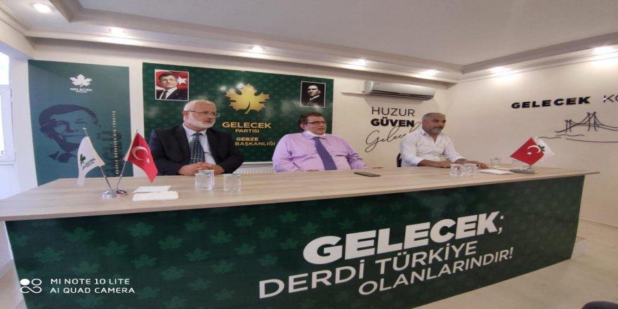 Gelecek Partisi Kocaeli'de Kongre startı Gebze'den
